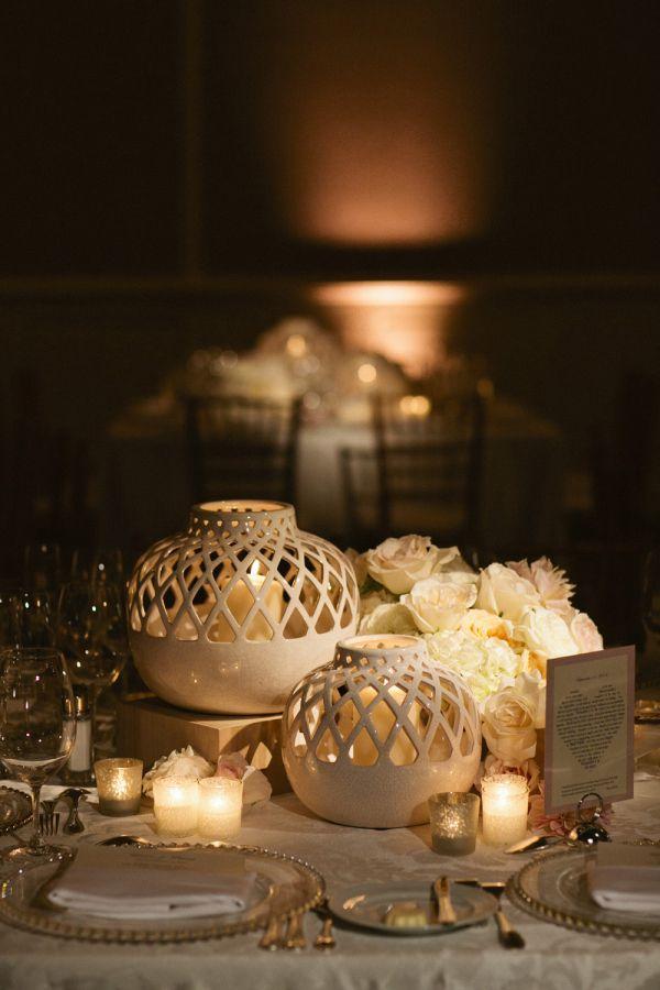 Unique vases wedding centerpiece