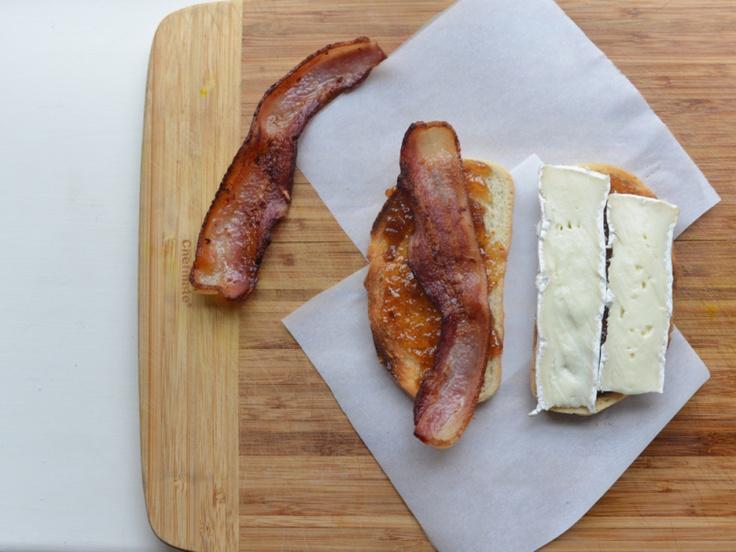 bacon, fig, and brie sandwich | yummmmm | Pinterest