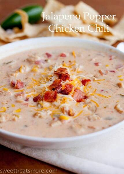 Jalapeno Popper Chicken Chili | recipes | Pinterest