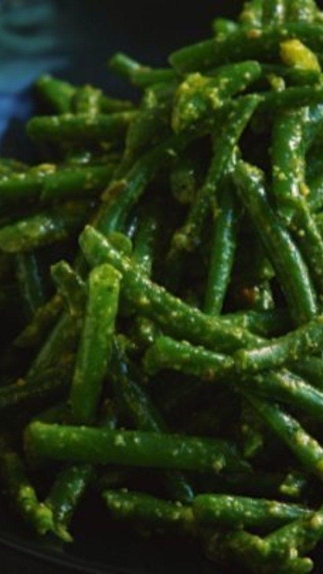 Green Beans With Pistachio Pesto Recipe | Paleo/Primal | Pinterest