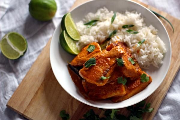 ... tilapia is coated in a sweet-and-spicy red curry sauce in this Thai
