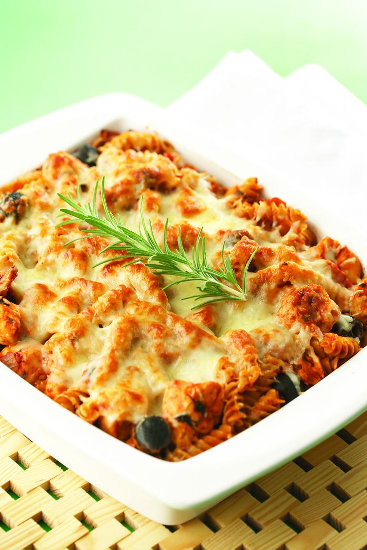 Baked Chicken and Rosemary Pasta | Recipe