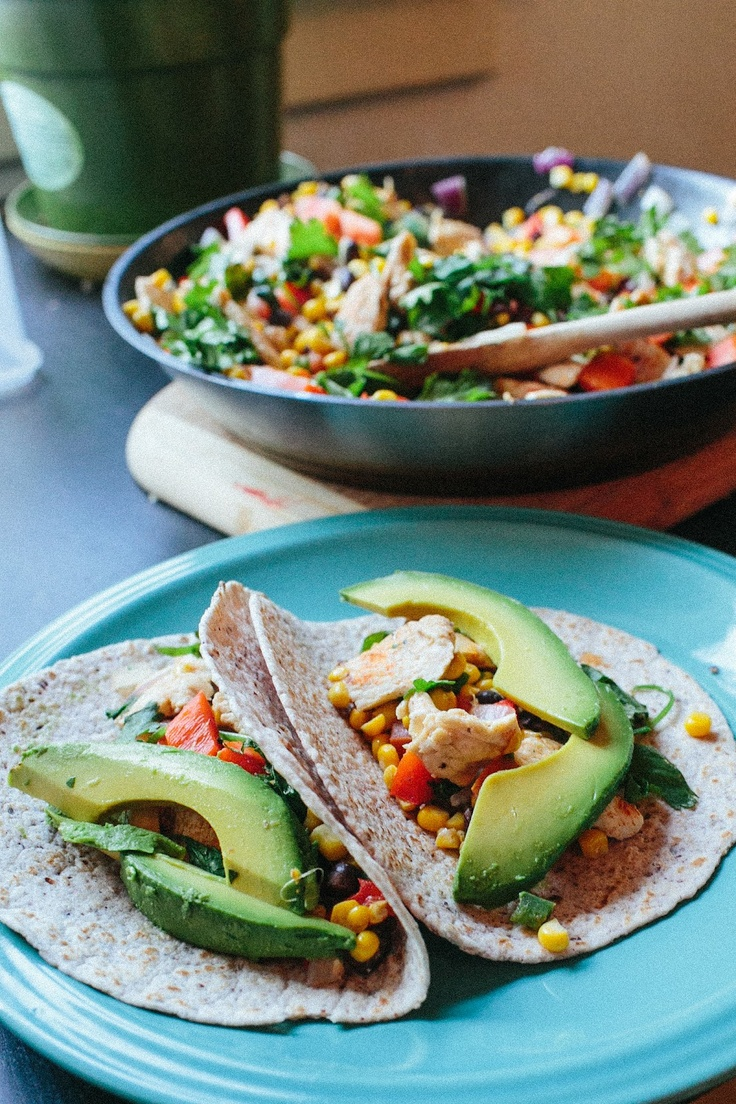 Chicken with Corn & Black Bean Tacos by Simple and Amazing