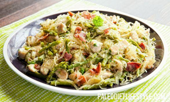 Chicken Asparagus Carbonara Paleo pasta? Not quite, but close! That ...