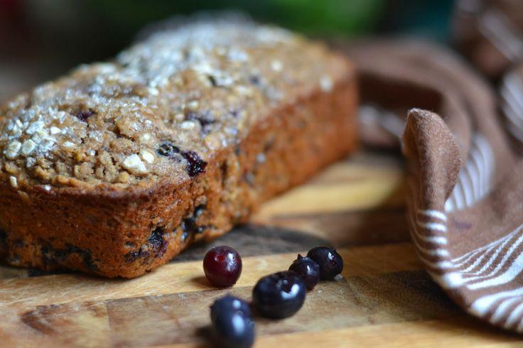 Whole wheat oatmeal blueberry bread | Breakfast | Pinterest