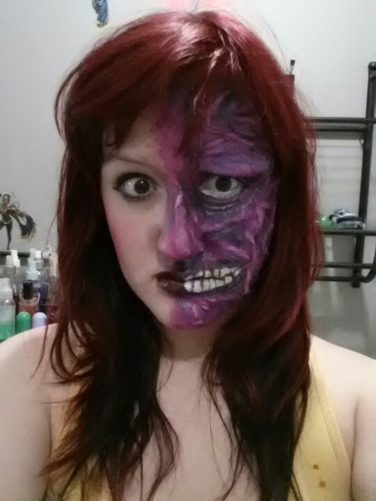Two-face Halloween Makeup Related Keywords u0026 Suggestions - Two-face ...