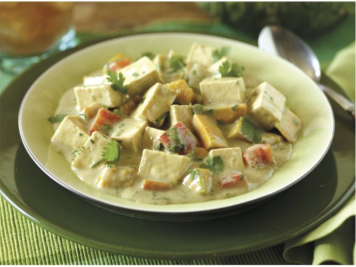 House Foods tofu pumpkin thai green curry