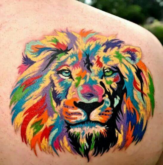 Rainbow Lion Amazing Tattoos Pinterest