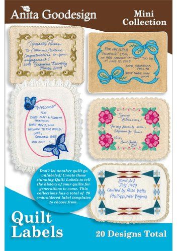 Embroidery Quilt Label Designs : Pin by Sharon Morris on Quilt Labels Pinterest