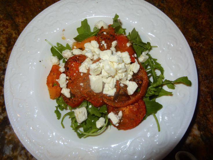 Warm Arugula Salad http://sillymommyluni.blogspot.com/2014/04/warm ...