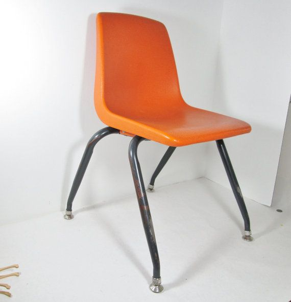 Vintage childs plastic school chair for Child s first chair