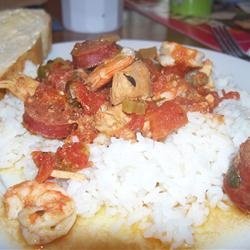 ... good! http://allrecipes.com/recipe/colleens-slow-cooker-jambalaya