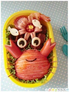 カニさん弁当 | キャラクター弁当 | OCNお弁当クラブ レシピ