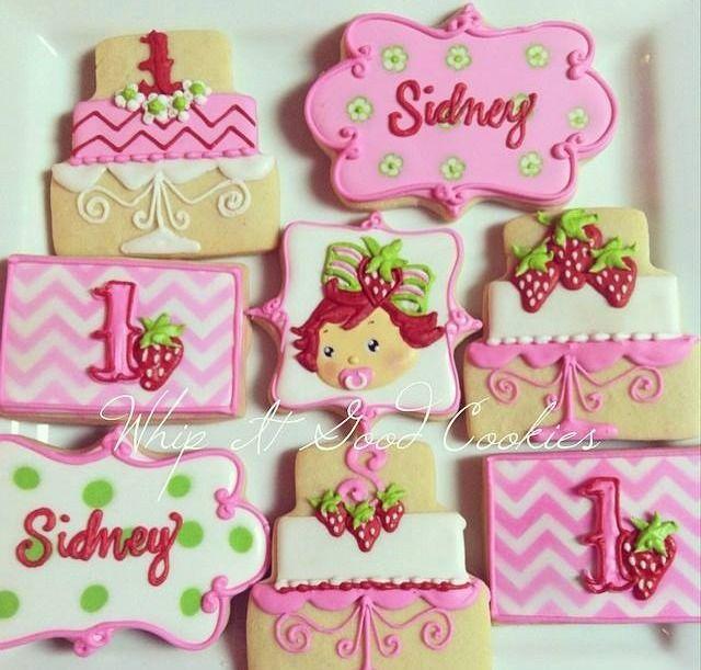 Baby Strawberry Shortcake cookies | CooKies | Pinterest