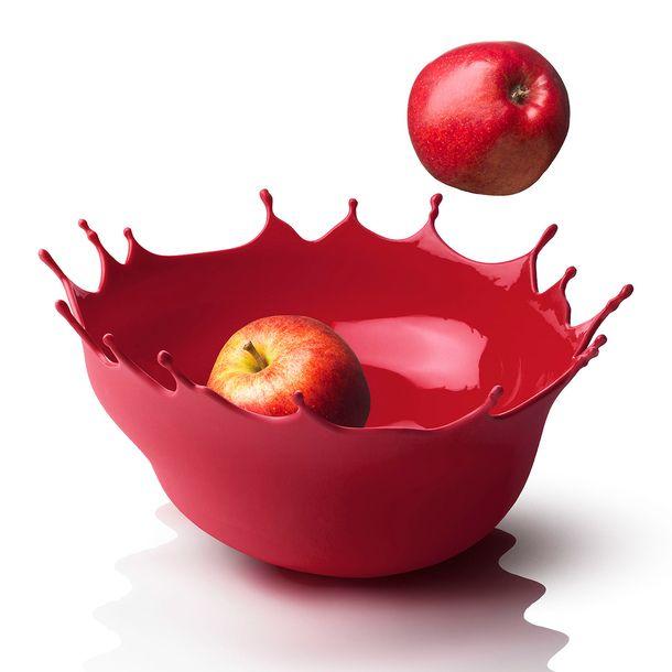 dropp fruit bowl red