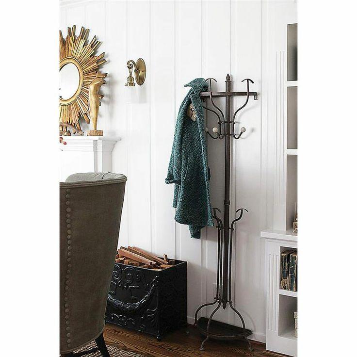 Space saver metal coat rack for Ghost antler coat rack