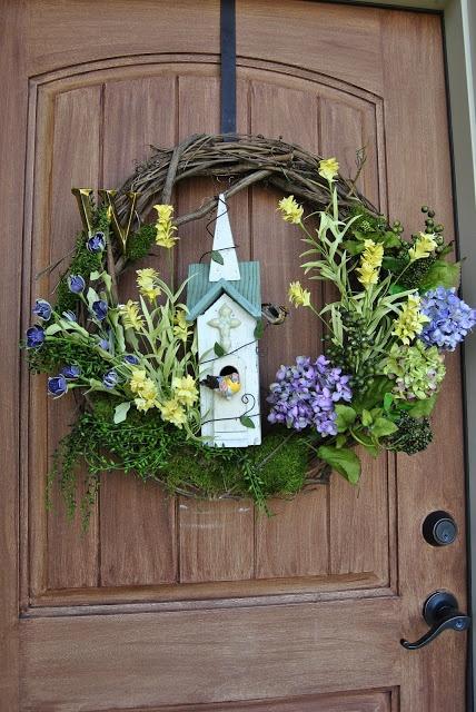 Front Door Spring Wreath Wreaths Pinterest