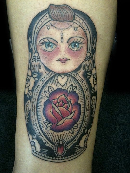 Russian doll tattoo antony flemming ink pinterest for Russian style tattoo