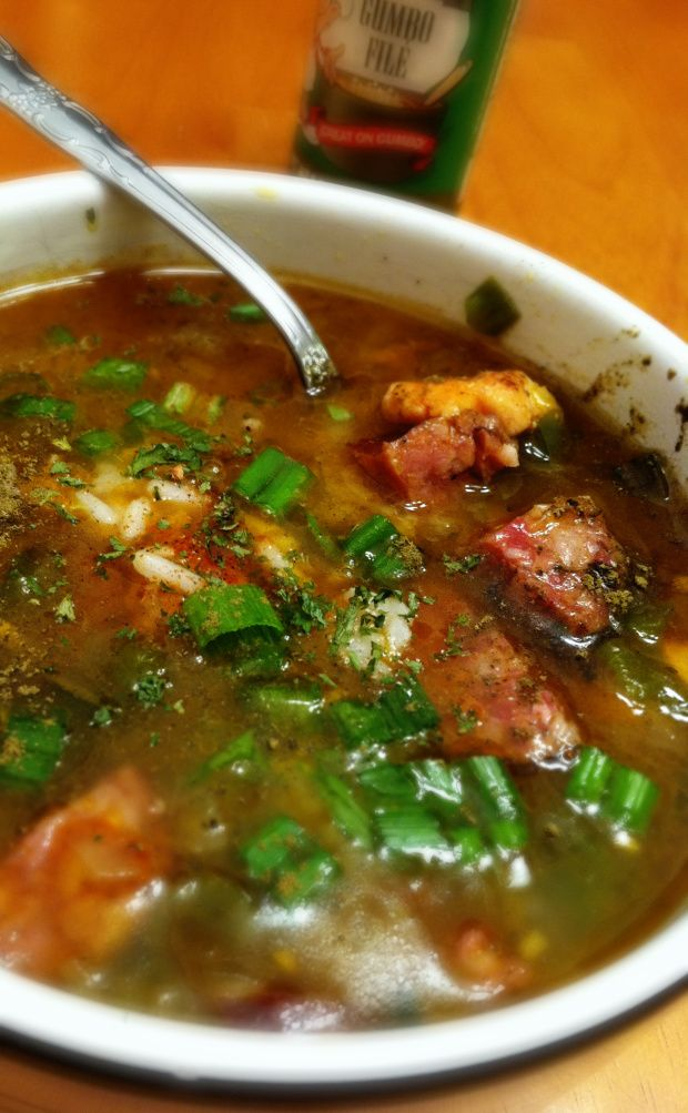 CHICKEN AND ANDOUILLE GUMBO (filé) | Bisque, Chili, Chowder, Goulash ...
