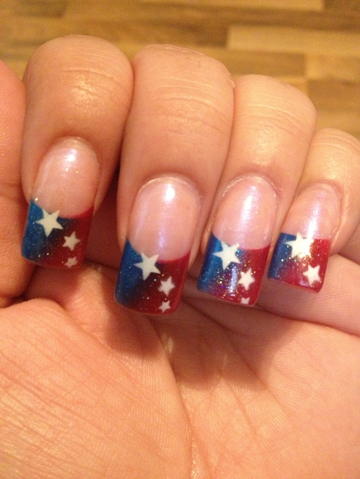 4th of july nails photo
