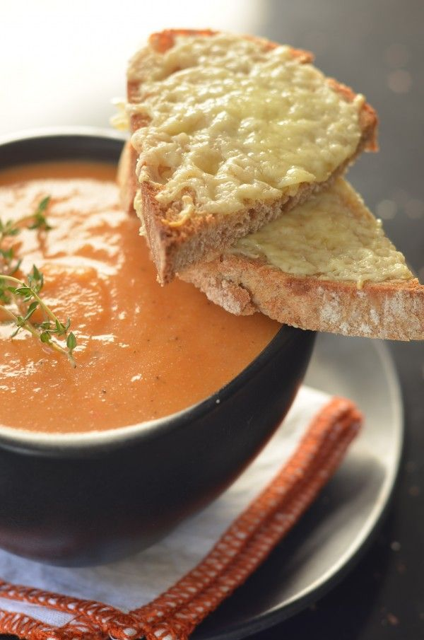 Roasted Red Pepper and Cauliflower Soup | soups | Pinterest