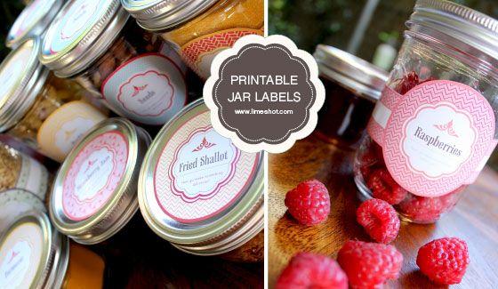 free printable. Mason Jar labels :)