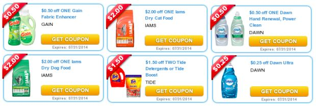 Twenty two new P&G printable coupons available today! - http ...