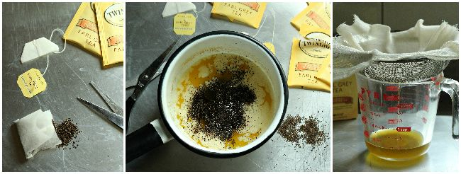 Tea Infused Butter for Baked Goods by BakingAMoment.com