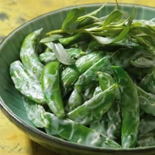 Chilled Snap Peas with Creamy Tarragon Dressing | Recipe