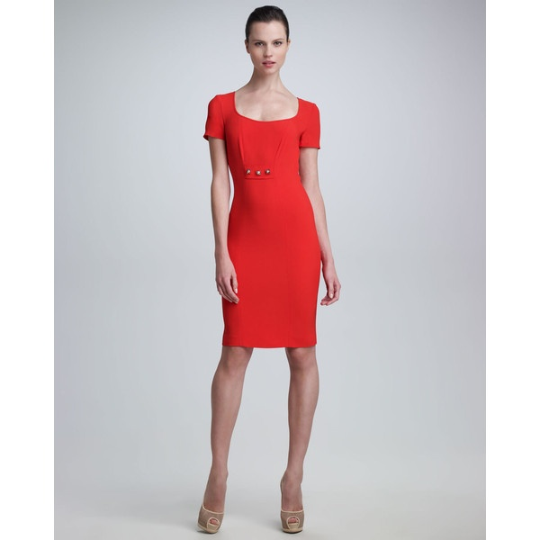 Versace Scoop-Neck Dress ($1,095) via Polyvore