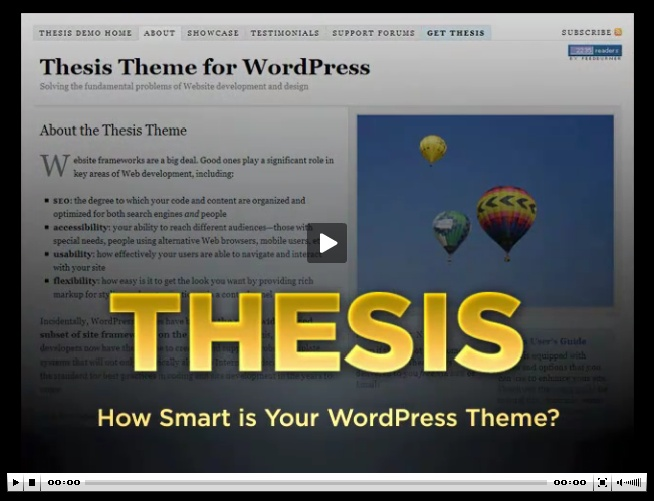 thesis theme support forum