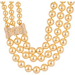 Kate Spade New York All Wrapped Up Pearls Pavé Statement Collar Necklace