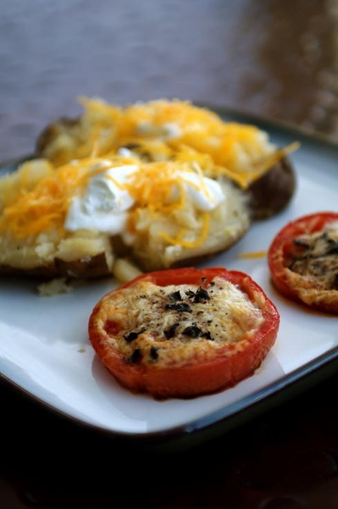 Baked Parmesan Tomatoes   Vegetables   Pinterest