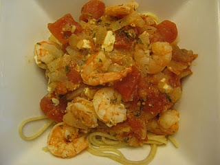 baked shrimp with feta and tomato sauce | Ambitious Dinner | Pinterest