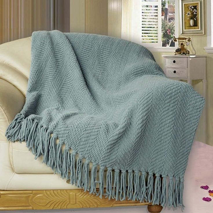 Superior Knitted Tweed Bed Couch Bedding 50in X 60in Ultra Soft Blanket Throw