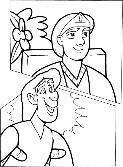 Mephibosheth coloring page coloring pages for David and mephibosheth coloring page