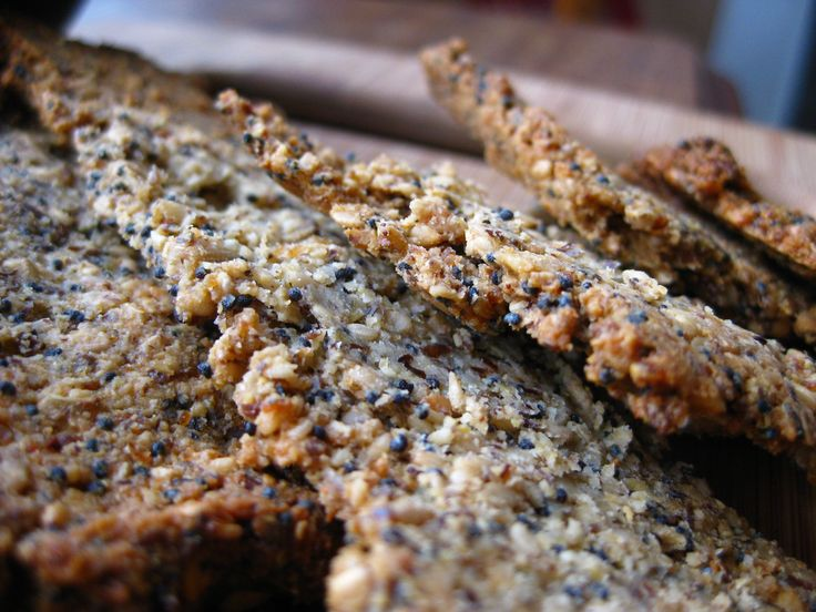 gluten free seed crackers, recipe, snack, homemade crackers | food ...