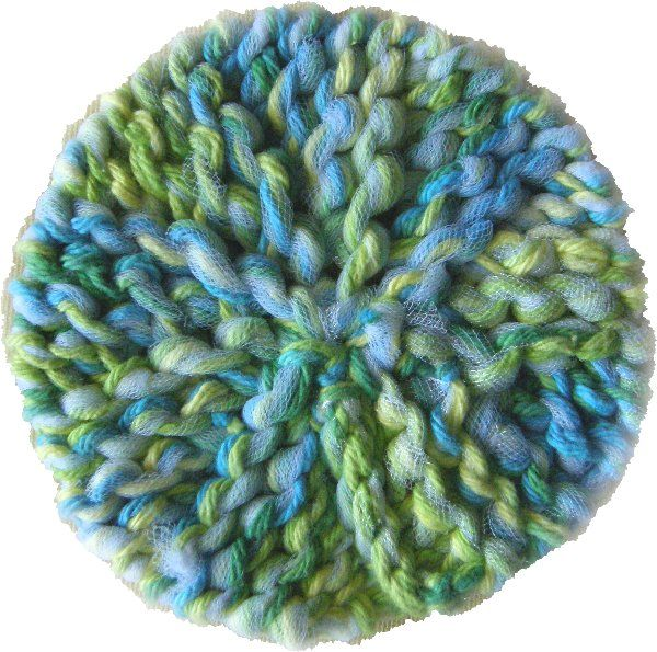 Knit Scrubbie Pattern : Scrubby-Os blue Loom knitting patterns Loom Knitting Pinterest
