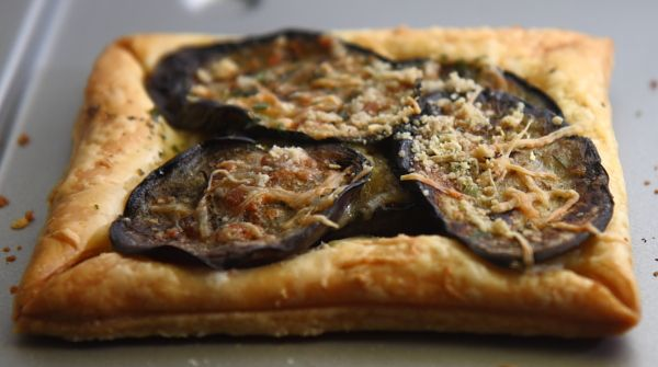 eggplant and brie puff pastry tart | Food & Drink that I love | Pinte ...