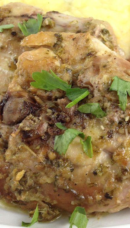 Pesto Ranch Crock Pot Chicken | Recipe