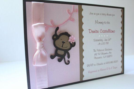 Handmade monkey baby shower invitations handmade monkey baby shower invitations photo2 filmwisefo