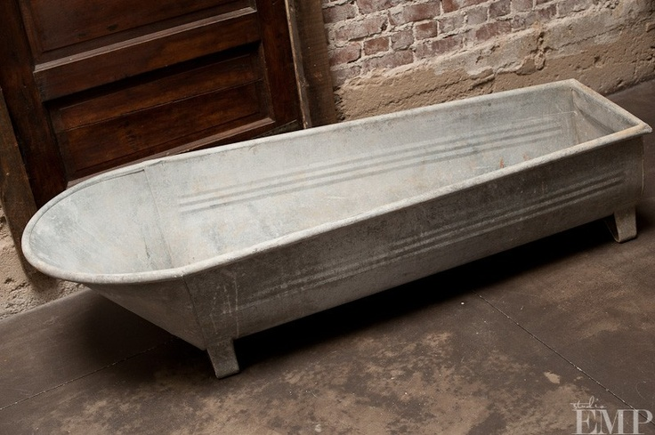 Galvanized 14 In Rectangle Tub With Metal Handles Images