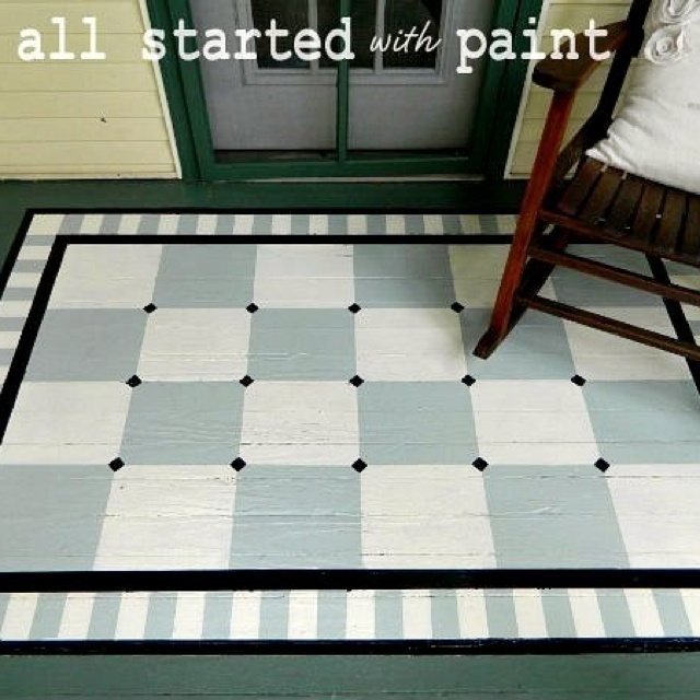 Painted floor floor cloth crafts and diy pinterest for How to paint a floor cloth