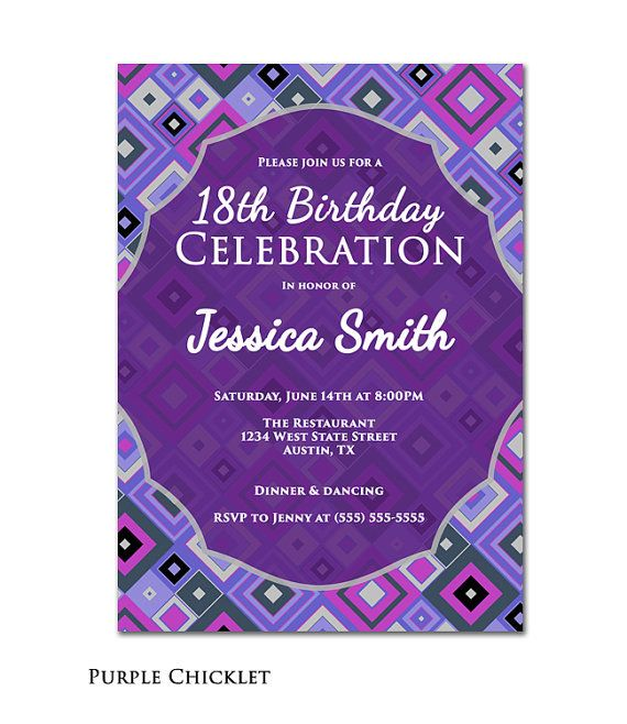 18Th Birthday Invite as awesome invitations ideas