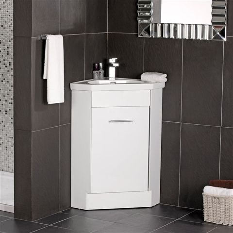 Corner Bathroom Sink Vanity Units : compact bathroom vanity Home Naeva Corner Vanity Unit White Gloss ...