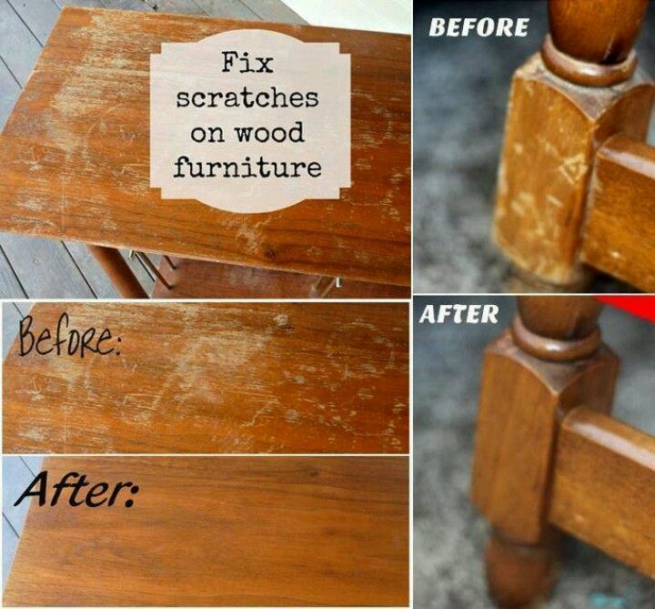 Oil Vinegar Wood Scratch Removal For The Home Pinterest