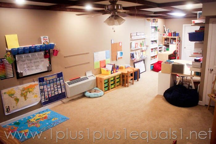 Basement Homeschool Room Setup Montessori Classroom And Curriculum