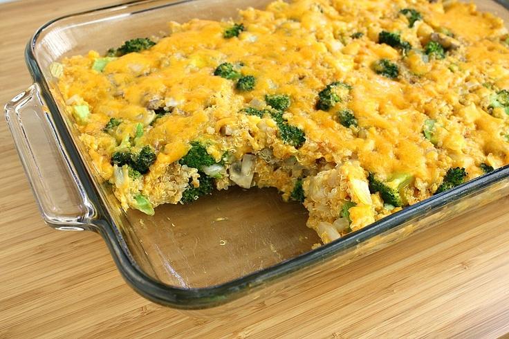The Garden Grazer: Cheesy Broccoli Quinoa Casserole- I'll have to ...
