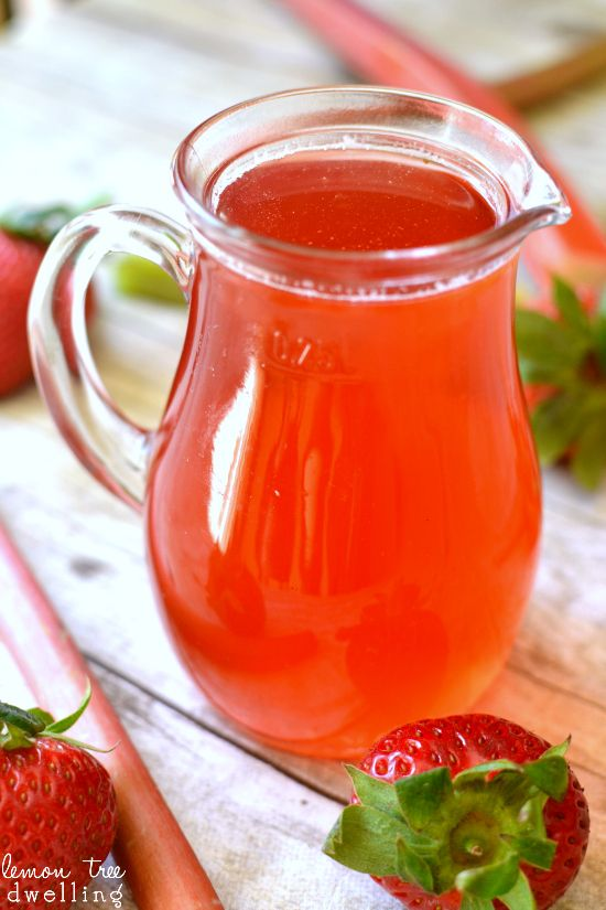 Strawberry Rhubarb Simple Syrup - a delicious addition to your ...