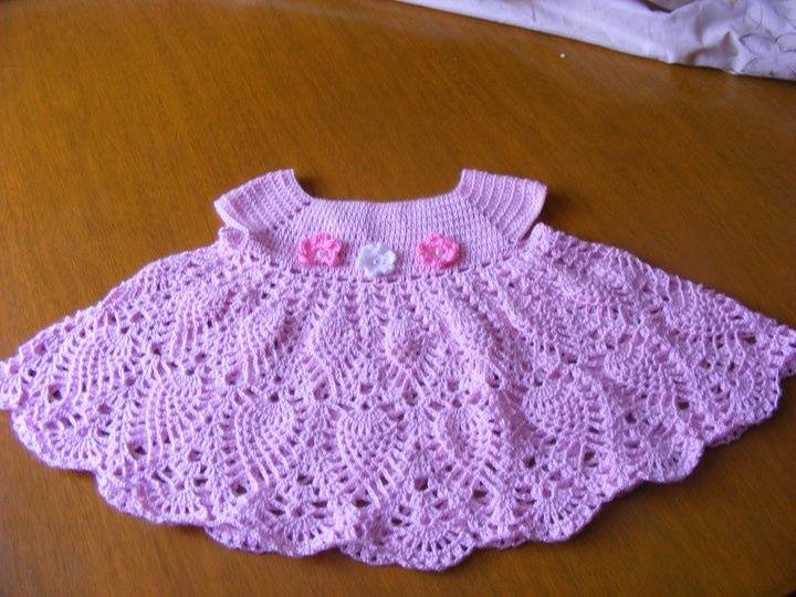 Vestido de piñas tejido a crochet - Imagui
